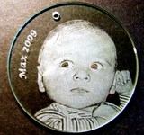 etched christmas ornament